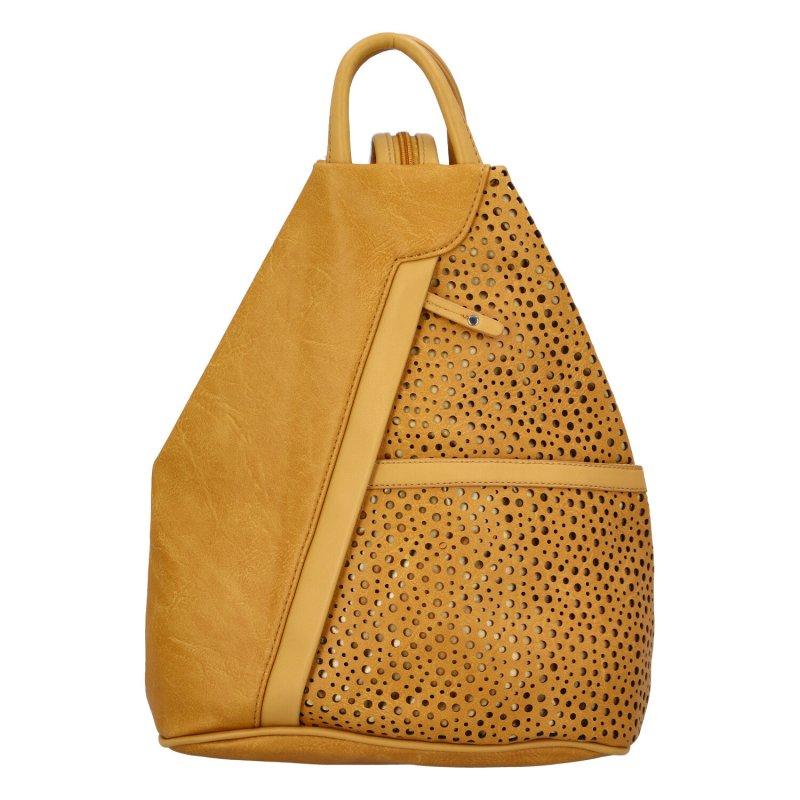 Dámský koženkový batůžek Ive, žlutý