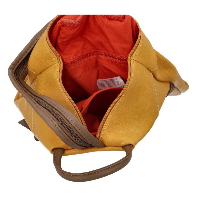 Dámský praktický batůžek Emily, žlutý