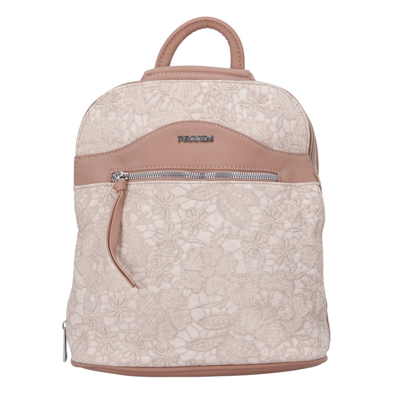 Dámský zajímavý batůžek Rita, růžový