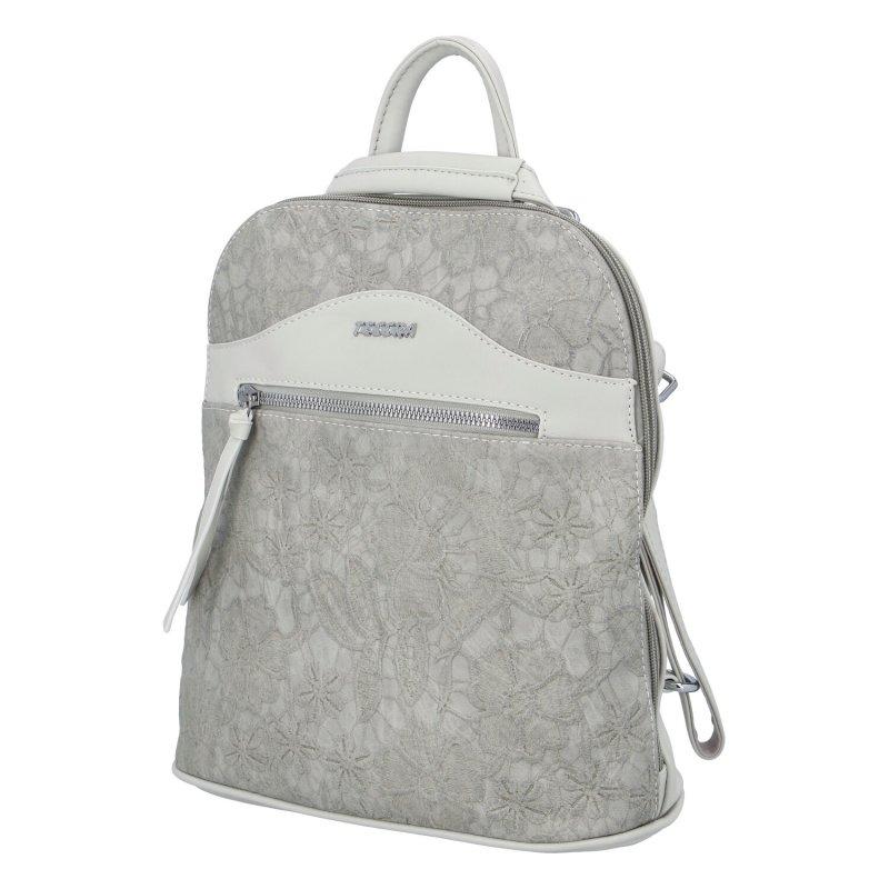 Dámský zajímavý batůžek Rita, šedý