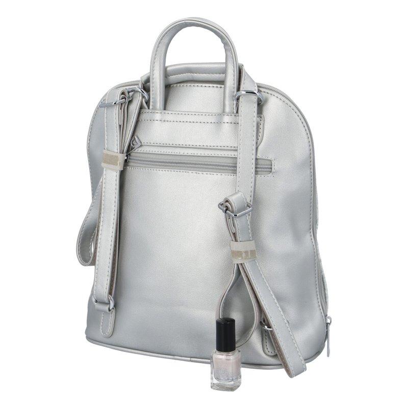 Dámský zajímavý batůžek Rita, stříbrný