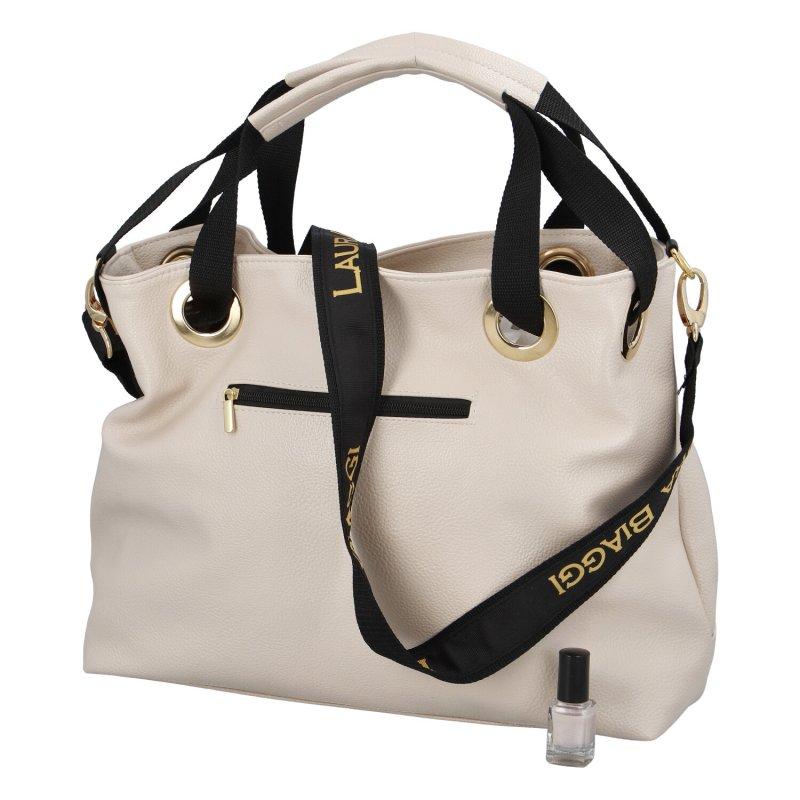 Větší dámská taška LB Brie, béžová