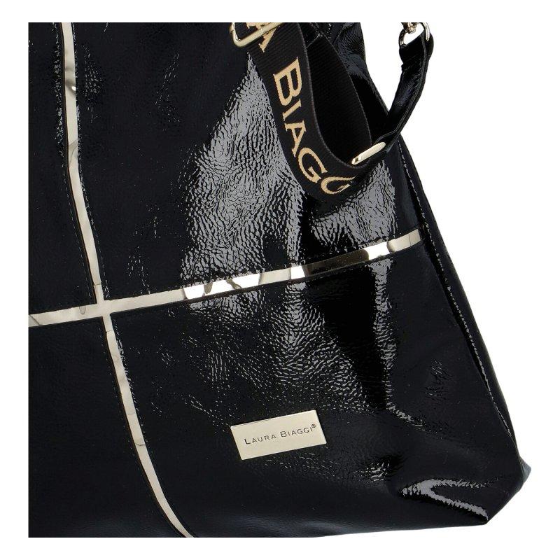 Dámská koženková kabelka Romantic LB Angel, černá