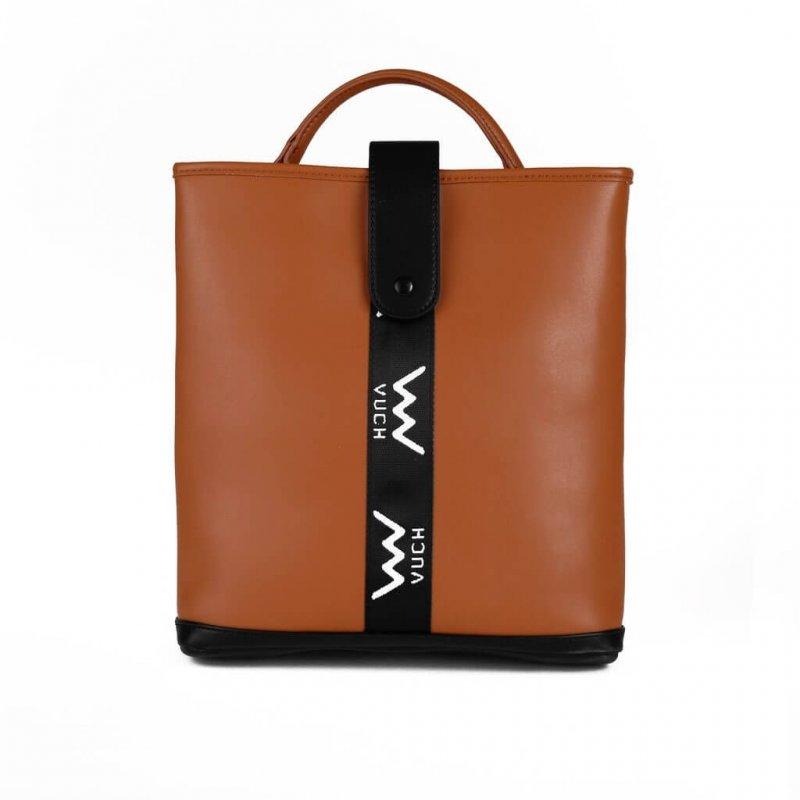 Dámský koženkový batoh VUCH Kelis, hnědý