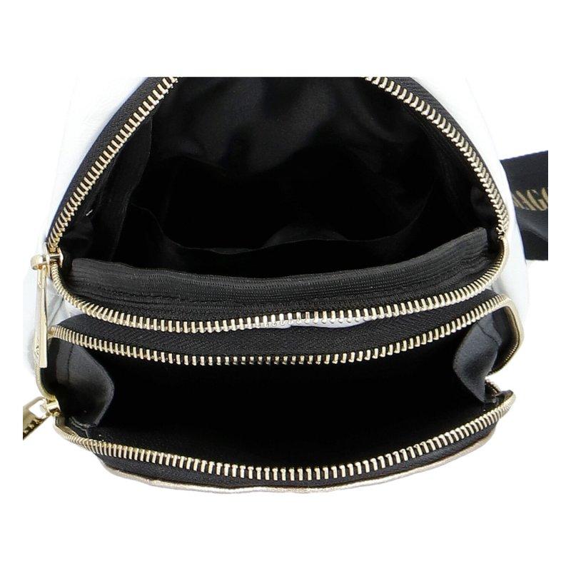 Dámský koženkový batoh LB Stylish, bílo zlatý