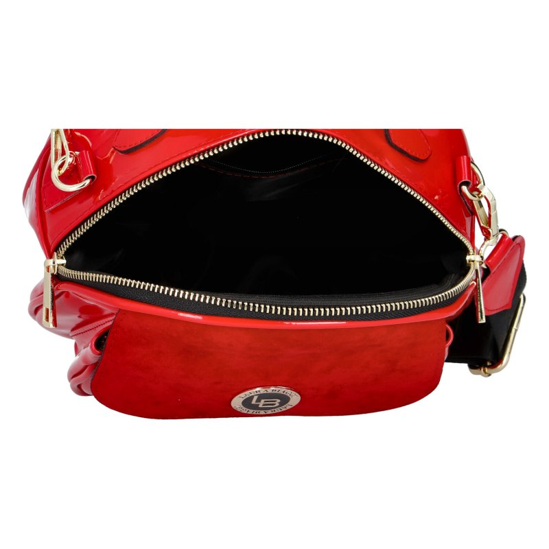 Praktická dámská kabelka Laura Biaggi Eve, červená