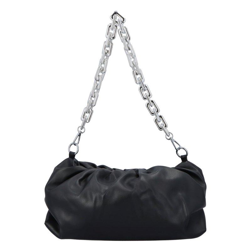Zajímavá dámská koženková kabelka Evita, černá