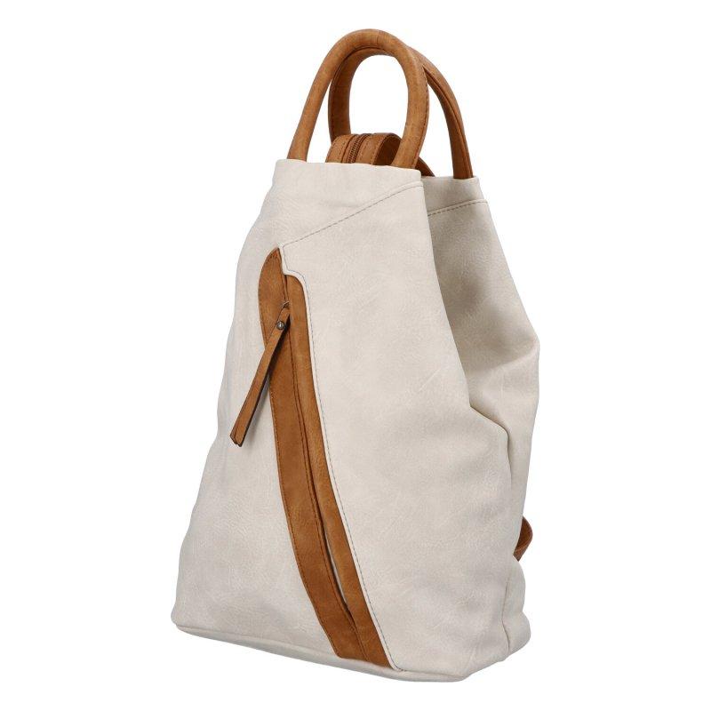 Šmrncovní koženkový batoh Eliška, bílý