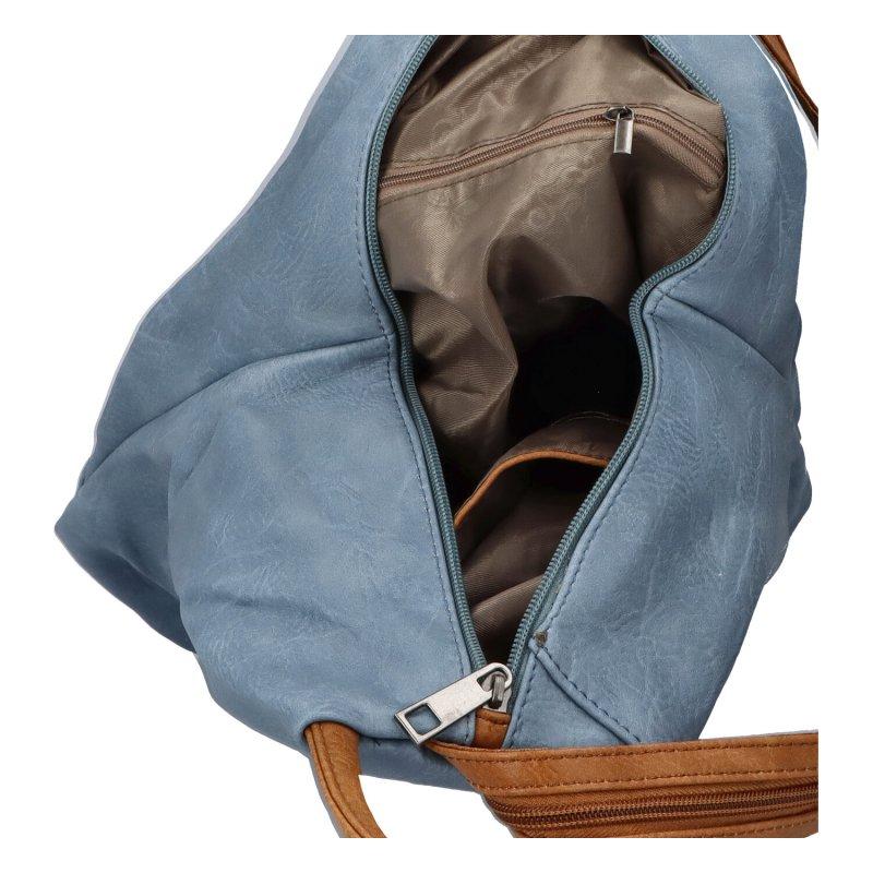 Šmrncovní koženkový batoh Eliška, modrý