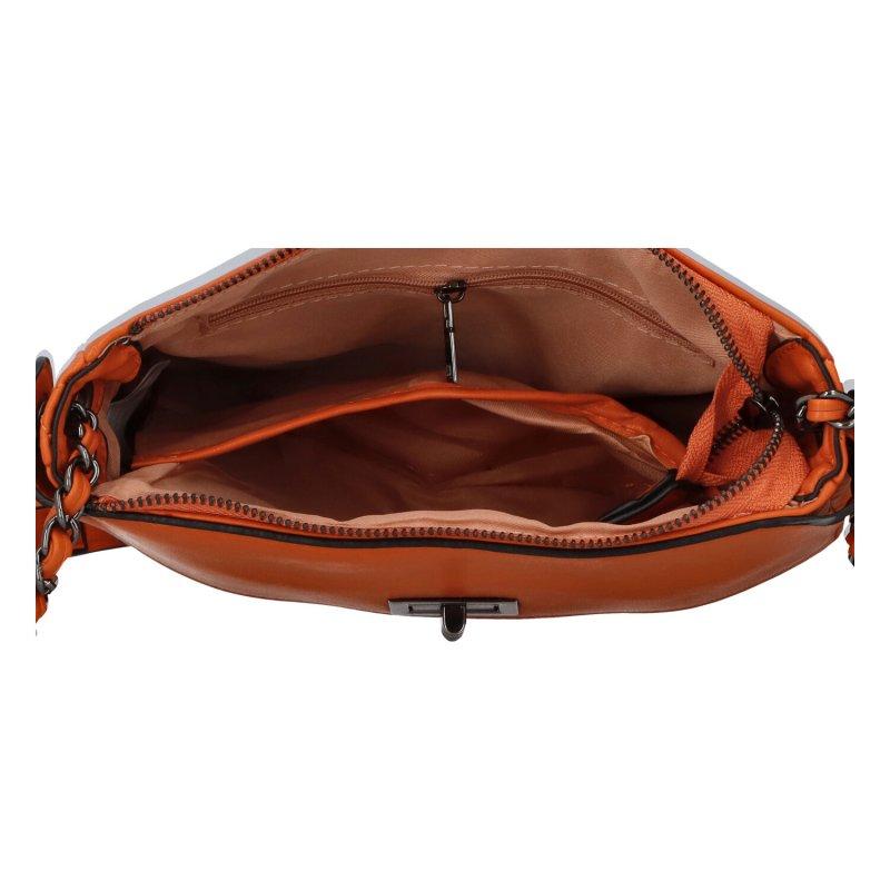 Stylová crossbody kabelka Delta, oranžová