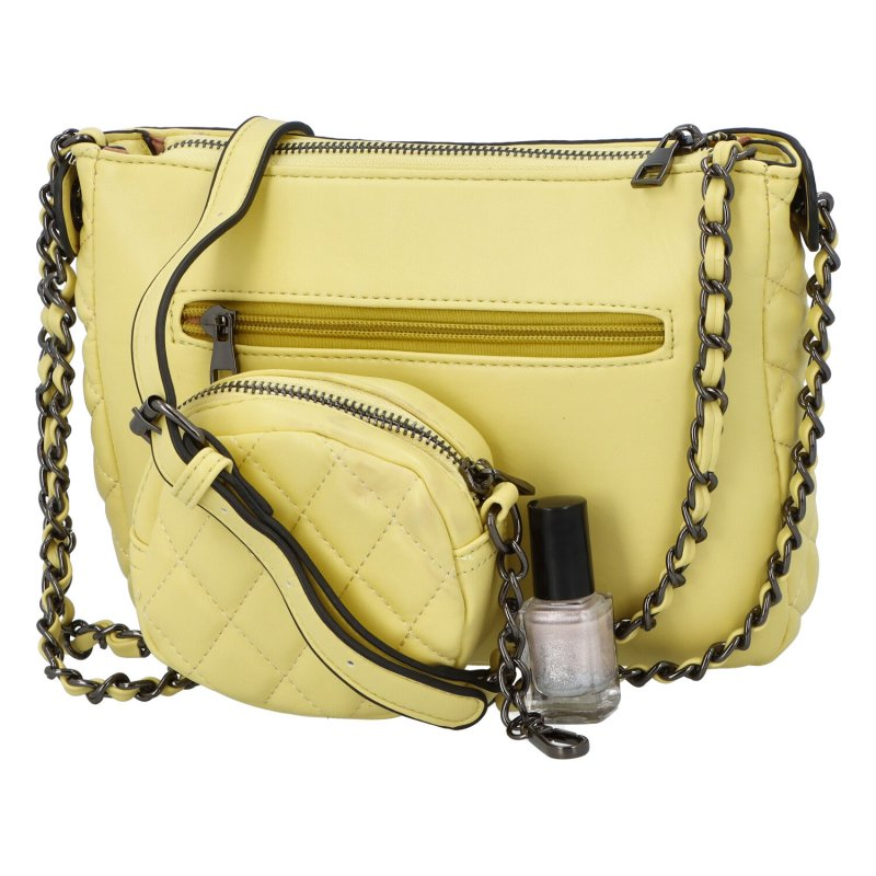 Stylová crossbody kabelka Delta, žlutá