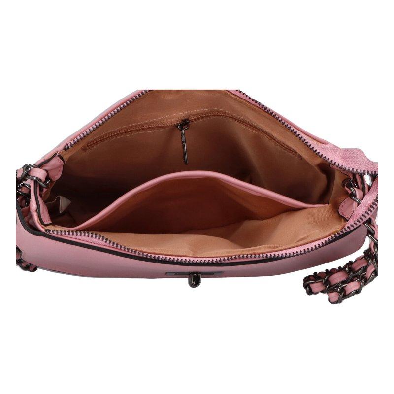 Stylová crossbody kabelka Delta, růžová