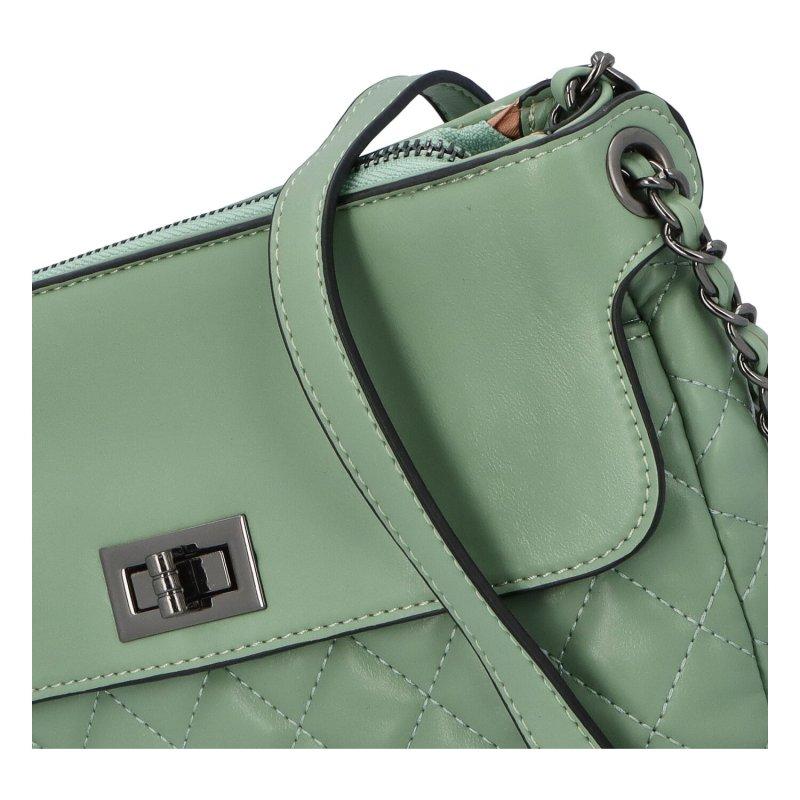 Stylová crossbody kabelka Delta, zelená