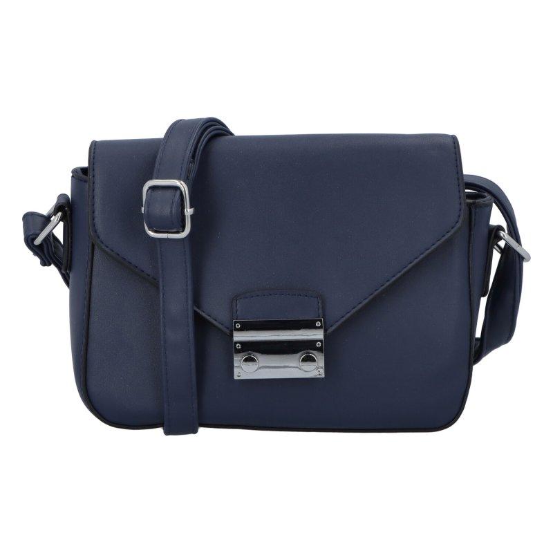 Módní nadčasová dámská crossbody kabelka Sylvia, modrá