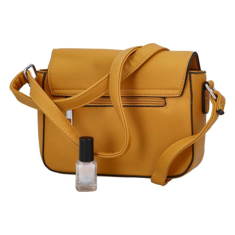 Módní nadčasová dámská crossbody kabelka Sylvia, žlutá