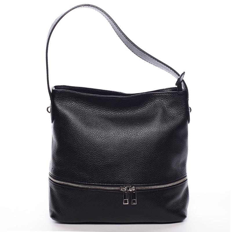 Kožená kabelka Eva, černá