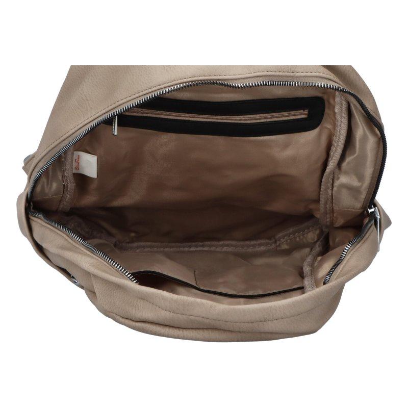Dámský koženkový batoh Sasha, soil