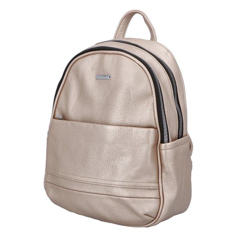 Dámský koženkový batoh Sandras rucksack, zlatý