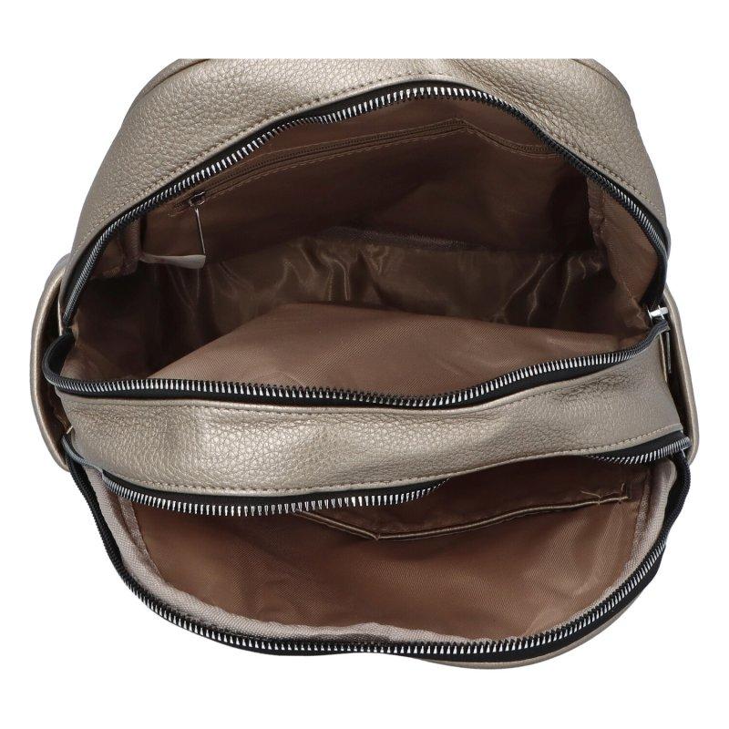 Dámský koženkový batoh Sandras rucksack, stříbrný