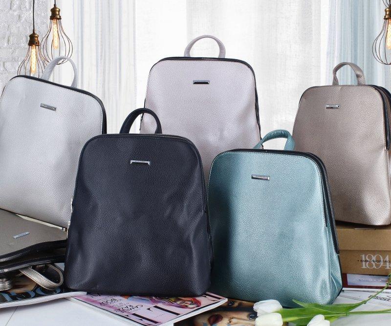 Dámský koženkový batoh Ema style, zelený
