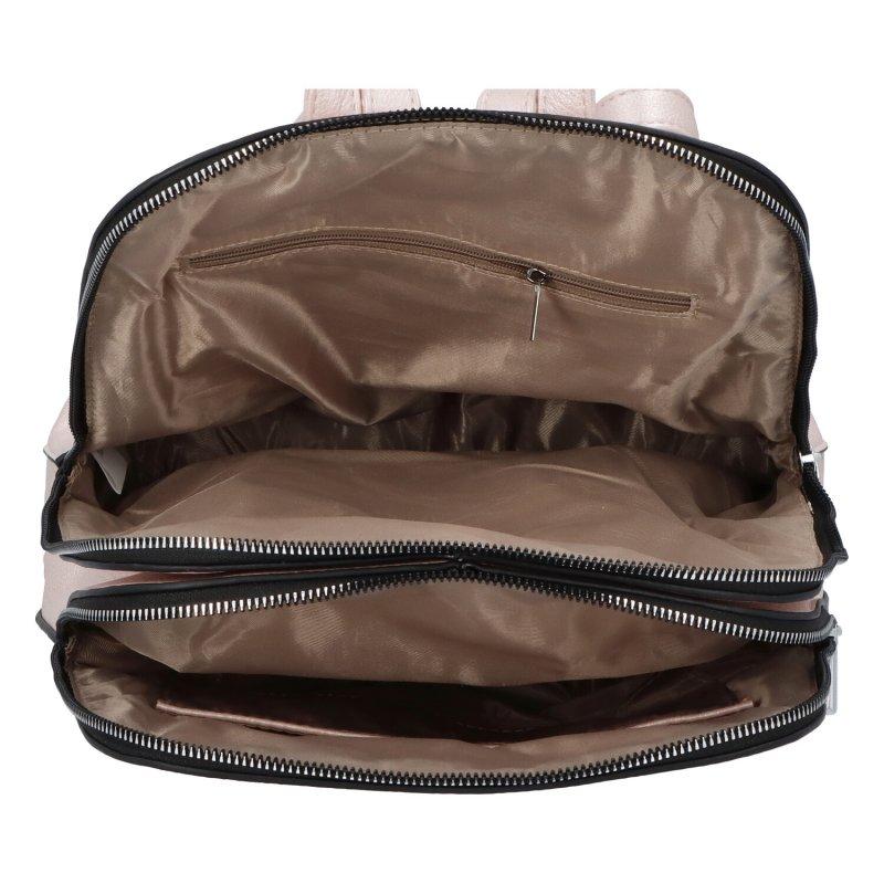 Dámský koženkový batoh Ema style, růžový