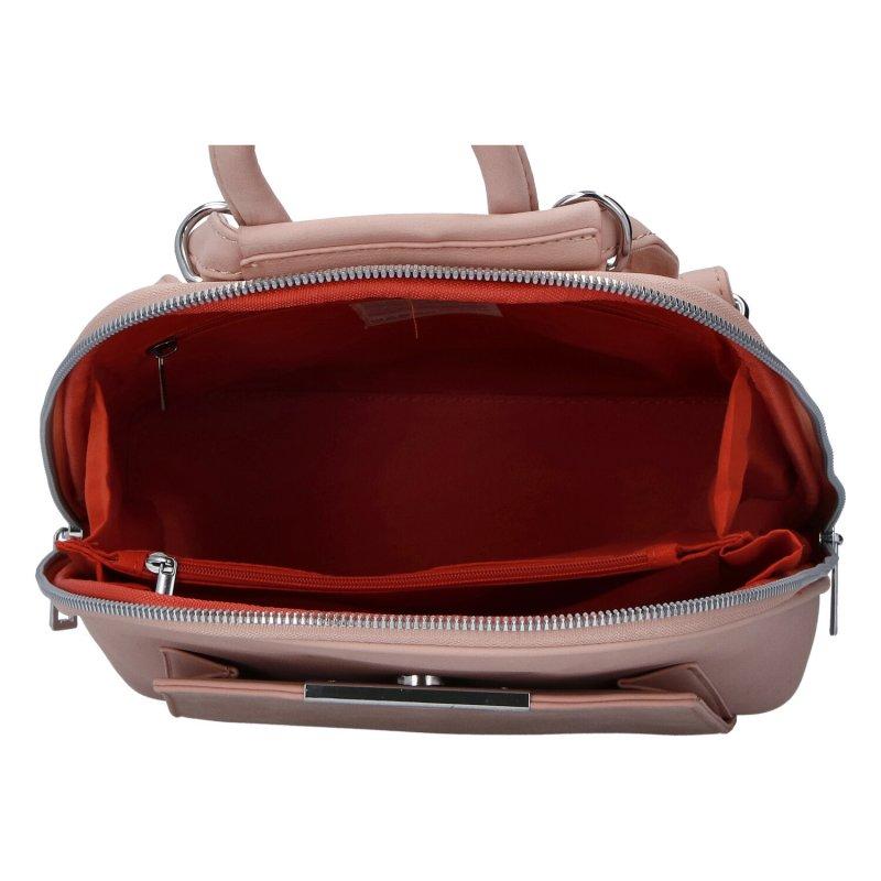Koženkový batůžek Tessra Fredi, růžový