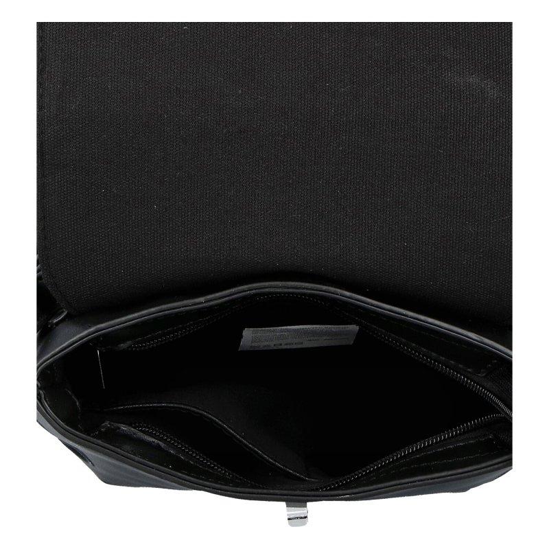 Luxusní dámský koženkový batůžek Caroline, černý