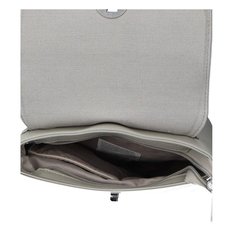 Luxusní dámský koženkový batůžek Caroline, šedý