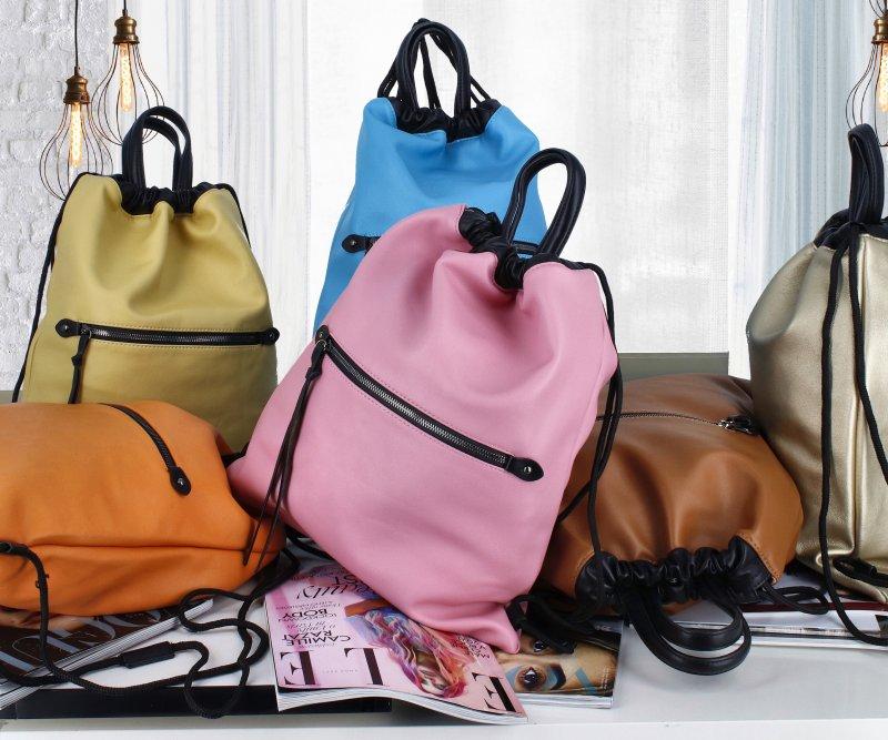 Stylový dámský koženkový batoh Iriaka, oranžový