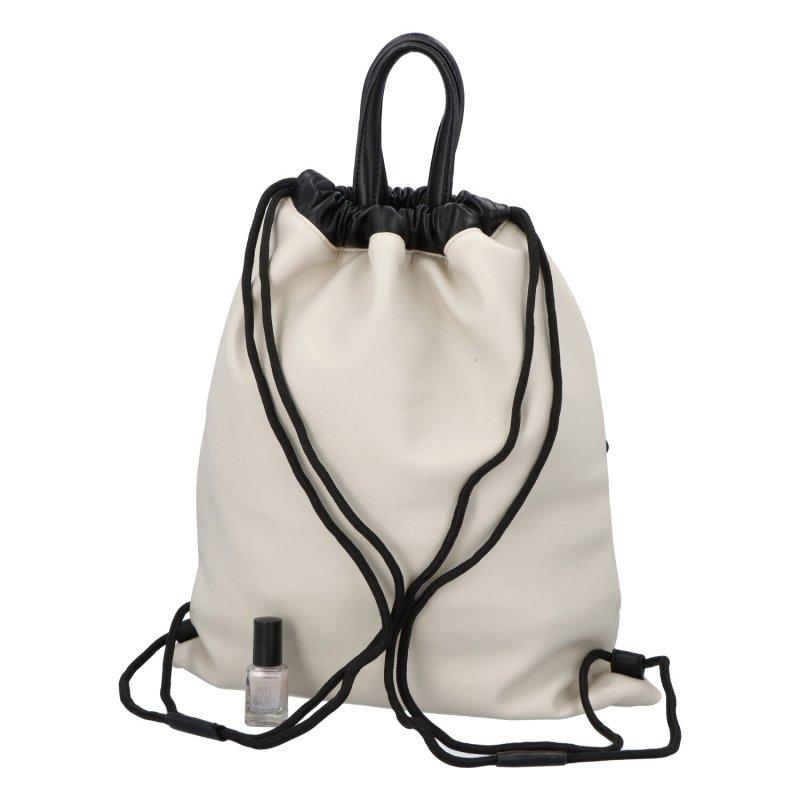 Stylový dámský koženkový batoh Iriaka,bílý