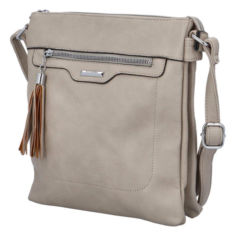 Praktická malá kabelka přes rameno Roza, šedá