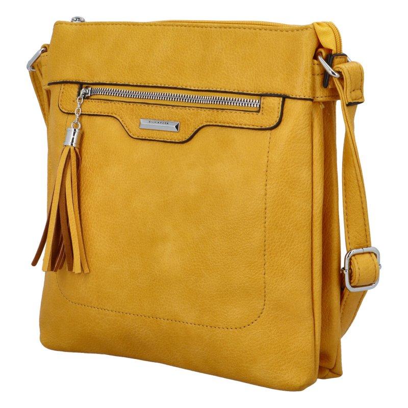 Praktická malá kabelka přes rameno Roza, žlutá