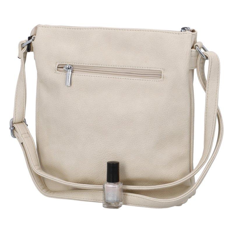 Praktická malá kabelka přes rameno Roza, béžová
