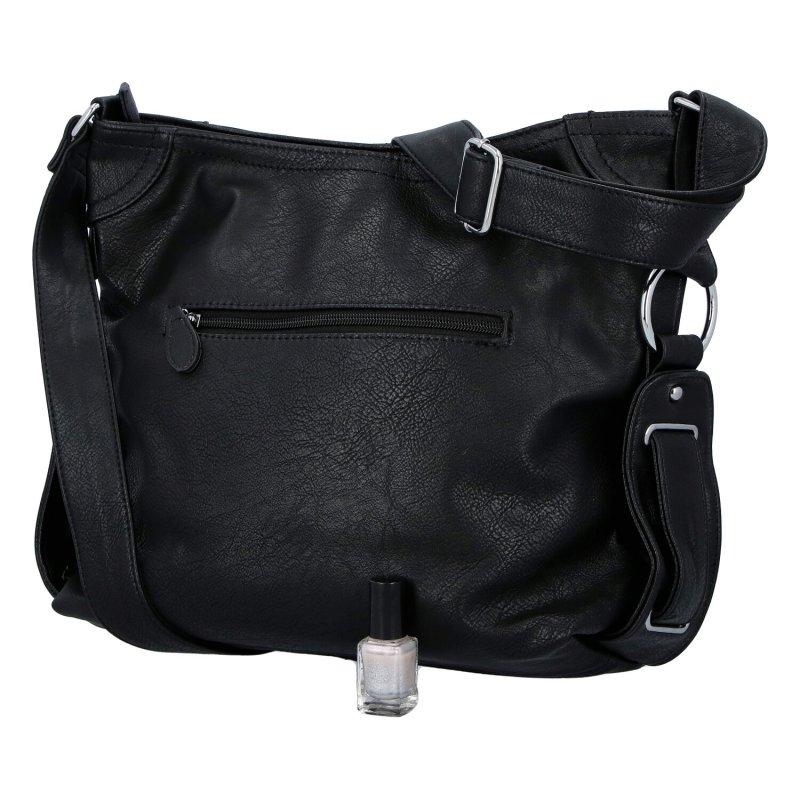 Dámská koženková kabelka Emina clasic, černá