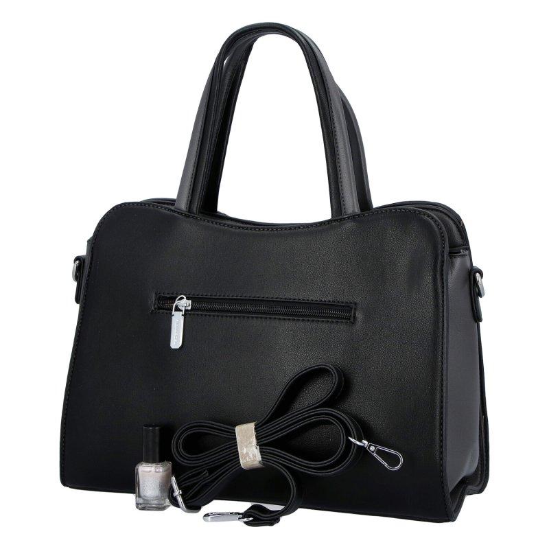 Elegantní dámská koženková kabelka Indira, černá
