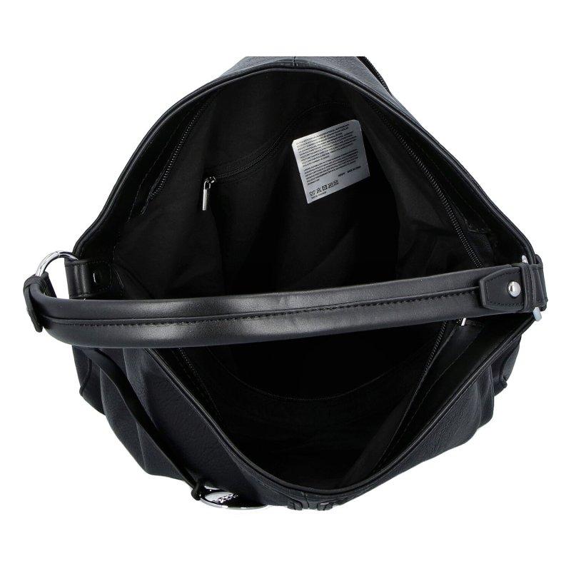 Praktická dámská koženková kabelka Ameita, černá