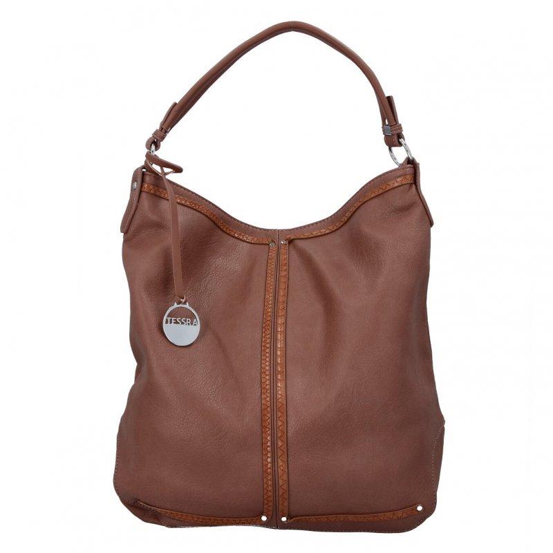 Praktická dámská koženková kabelka Ameita, růžová