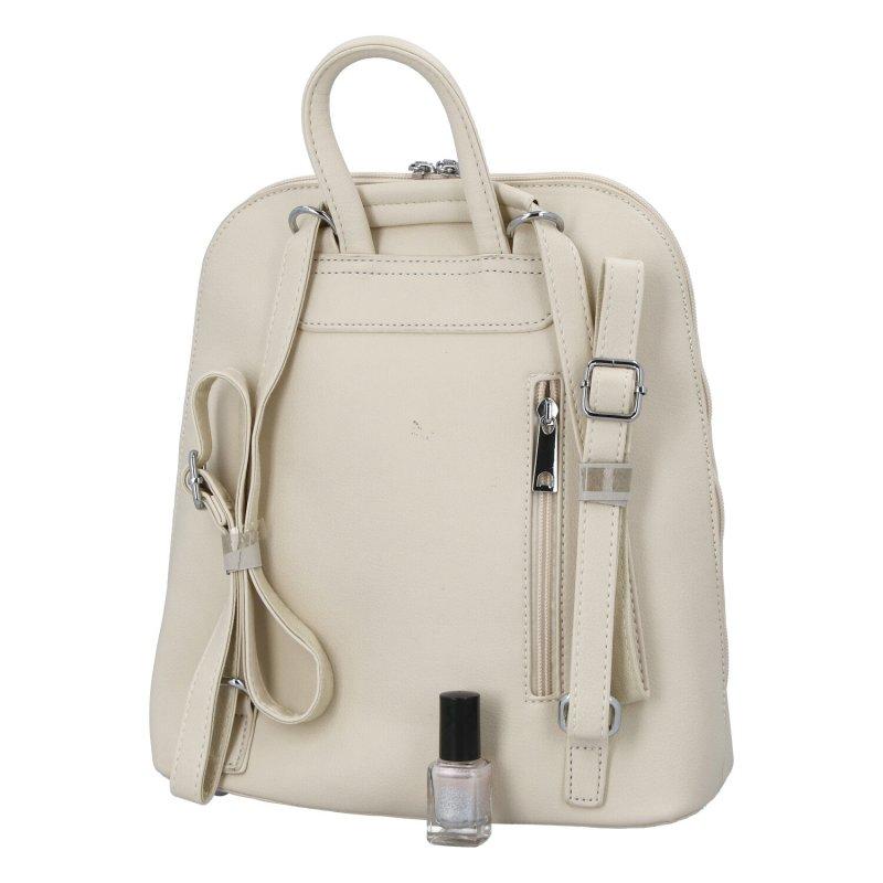 Dámský koženkový batoh Siniša, bílý