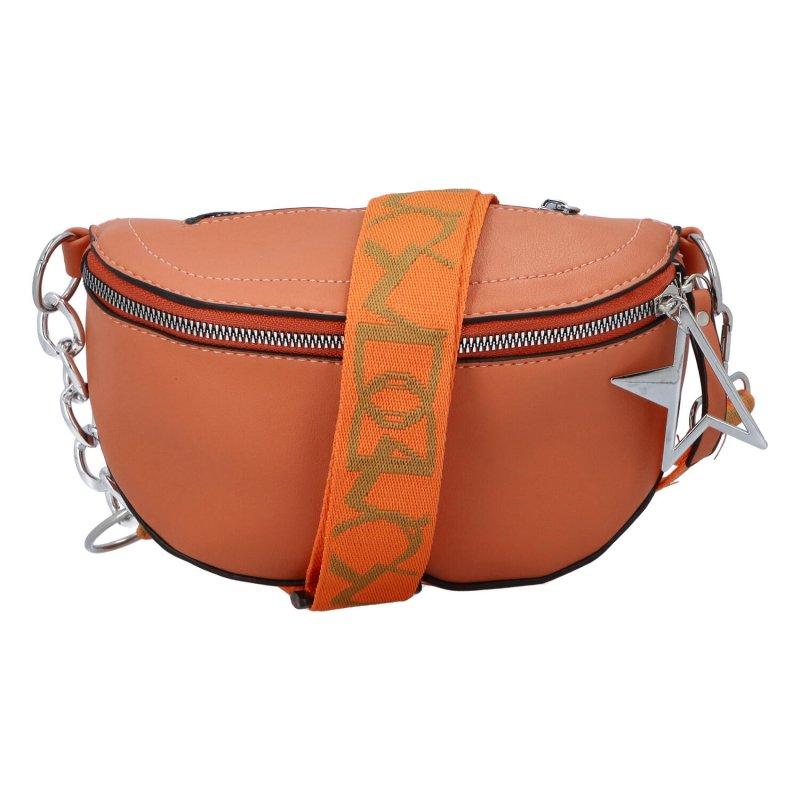 Malá módní ledvinka LOV3inPocket, oranžová