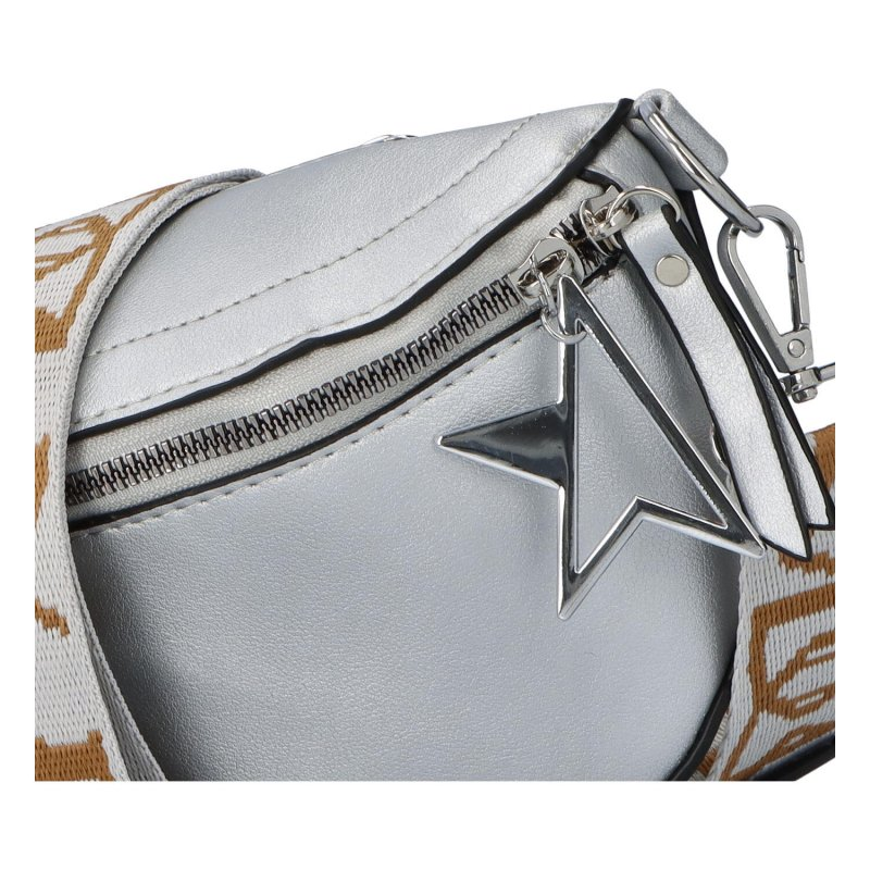 Malá módní ledvinka LOV3inPocket, stříbrá