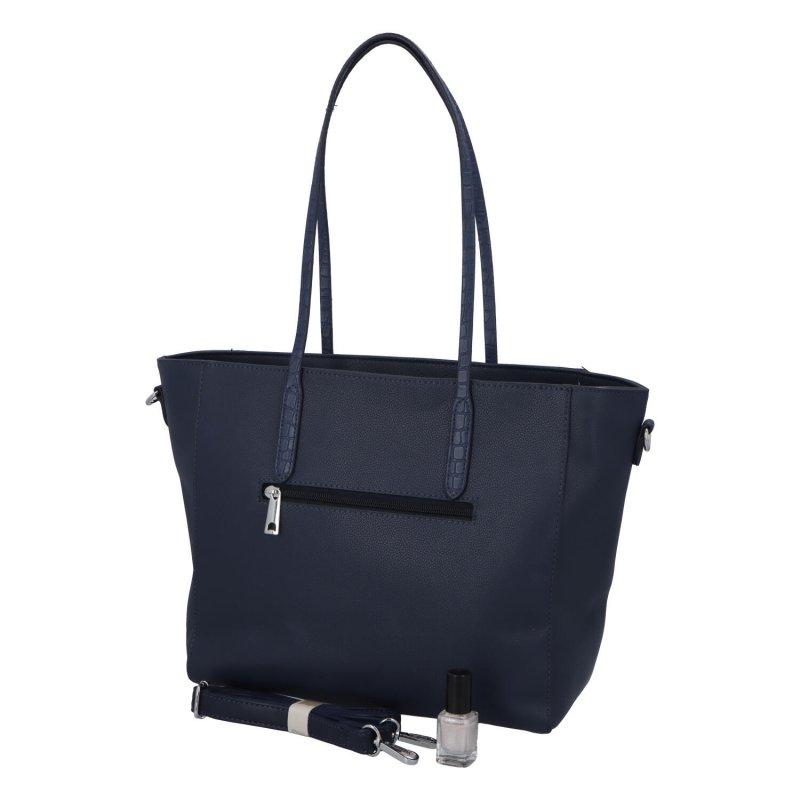 Moderní dámská koženková kabelka Modern princess, modrá