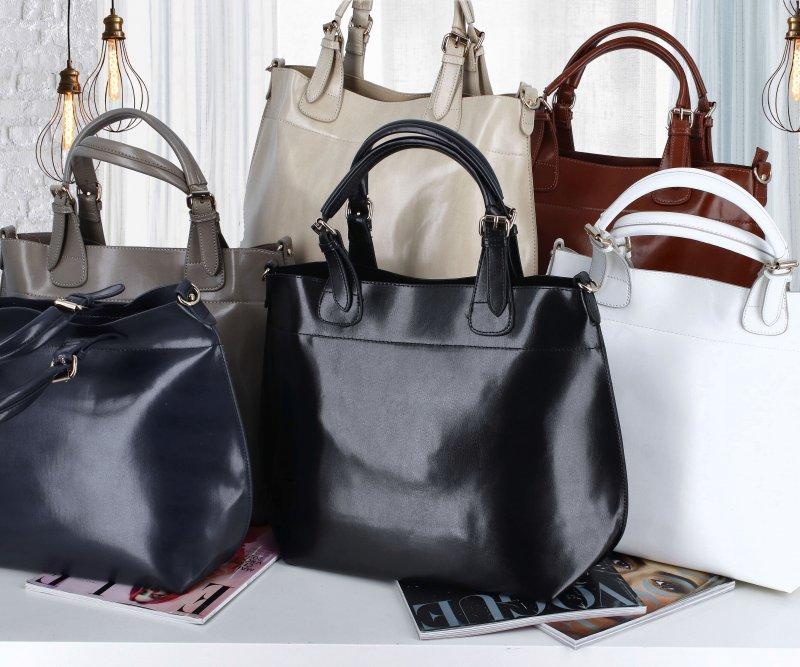 Praktická dámská koženková kabelka Ankica stylish, bílá