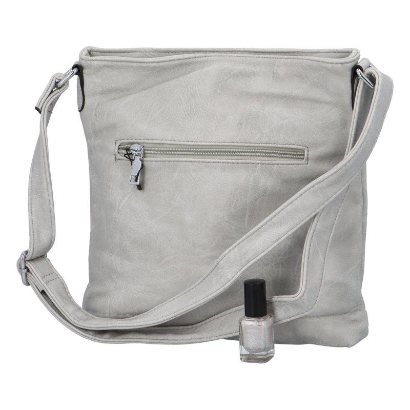 Originální crossbody kabelka Ximena II, šedá