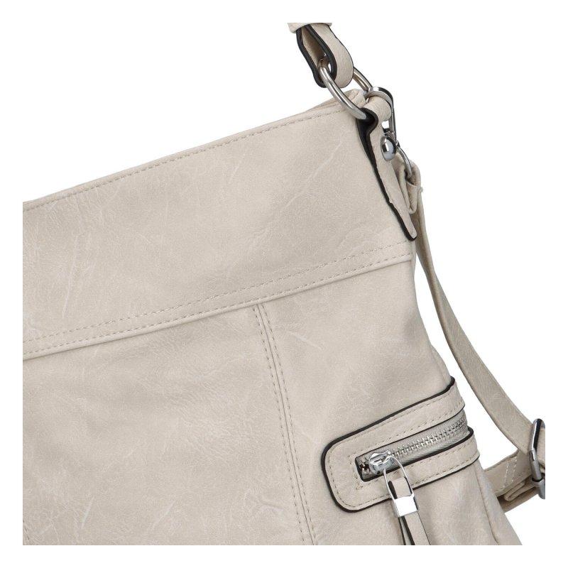 Prostorná crossbody kabelka Lavish, krémová