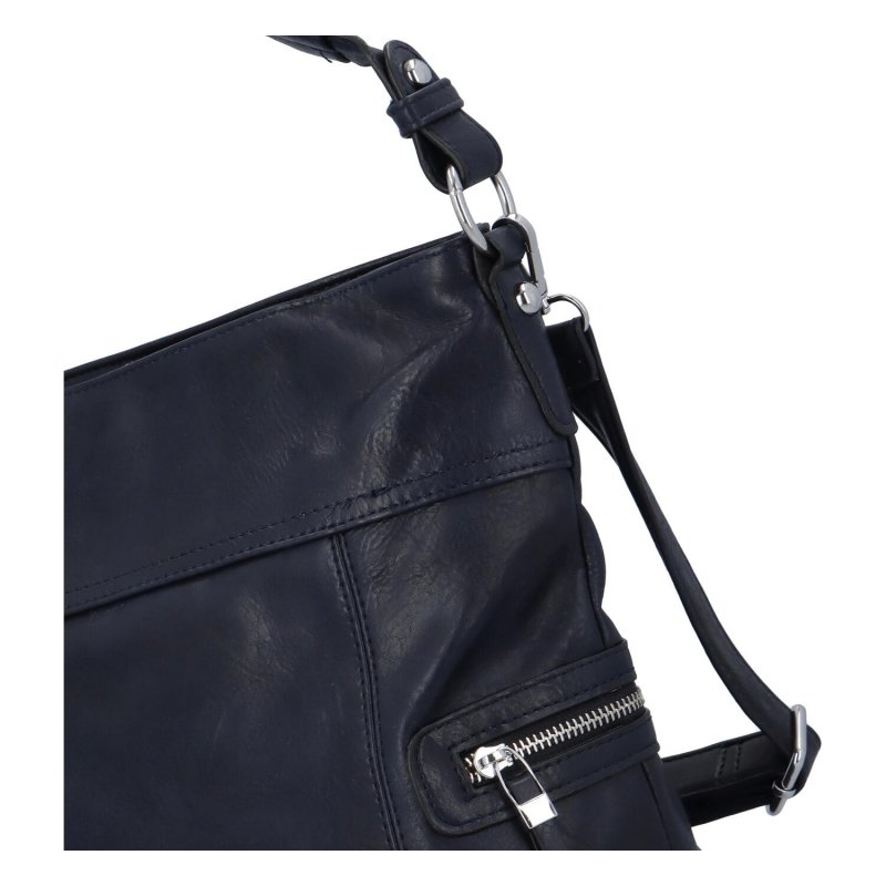Prostorná crossbody kabelka Lavish, modrá