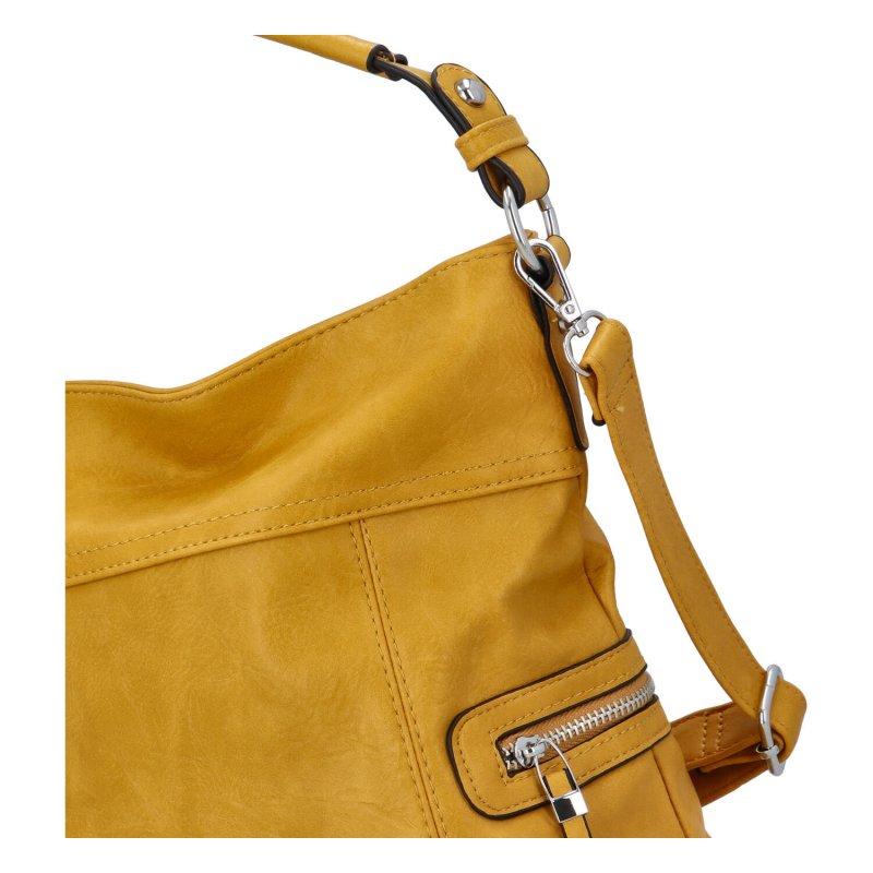 Prostorná crossbody kabelka Lavish, žlutá