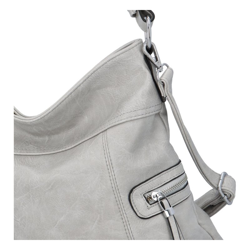 Prostorná crossbody kabelka Lavish, šedá