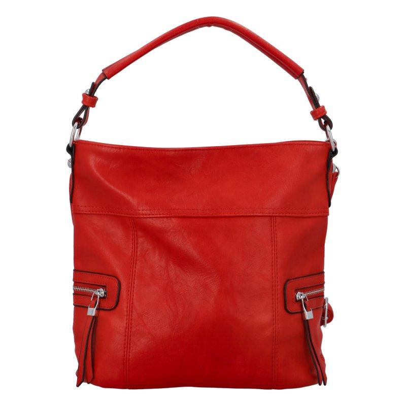 Prostorná crossbody kabelka Lavish, červená