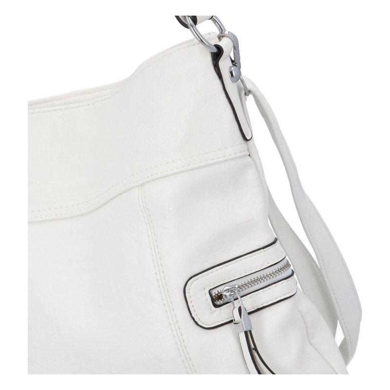 Prostorná crossbody kabelka Lavish, bílá