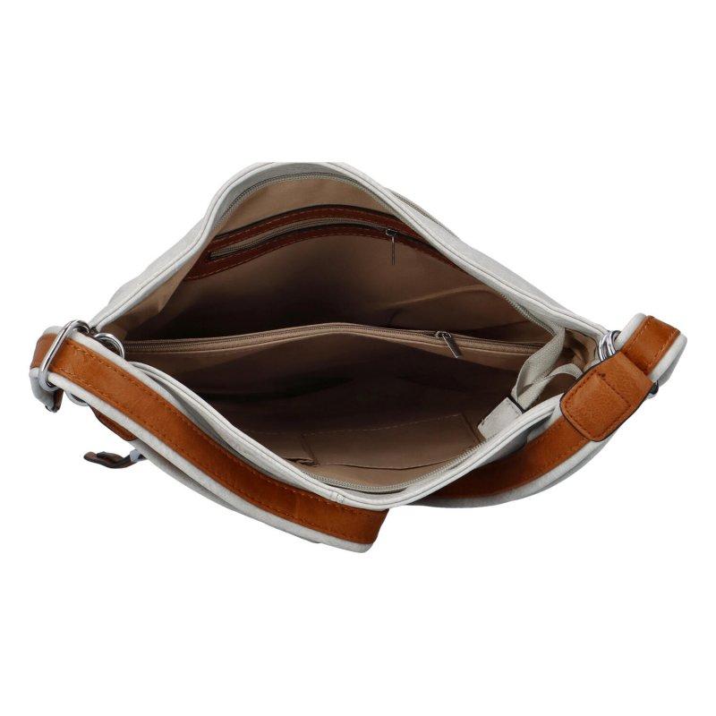 Praktická dámská koženková taška/batoh Hervé II, šedá
